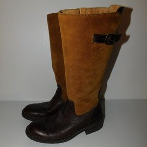 Born Suede Leather 2-Tone Riding Boots 6.5 @